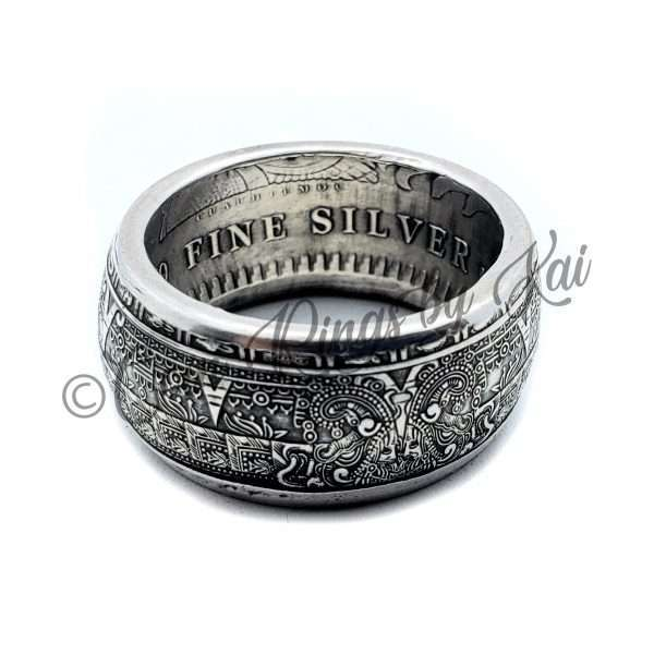 Aztec Coin Ring 99.9% Fine Silver
